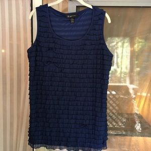 Navy 1X INC top